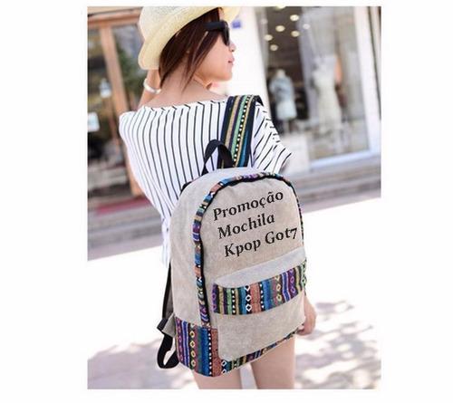mochila got 7 kpop linda - unisex - material alta qualidade