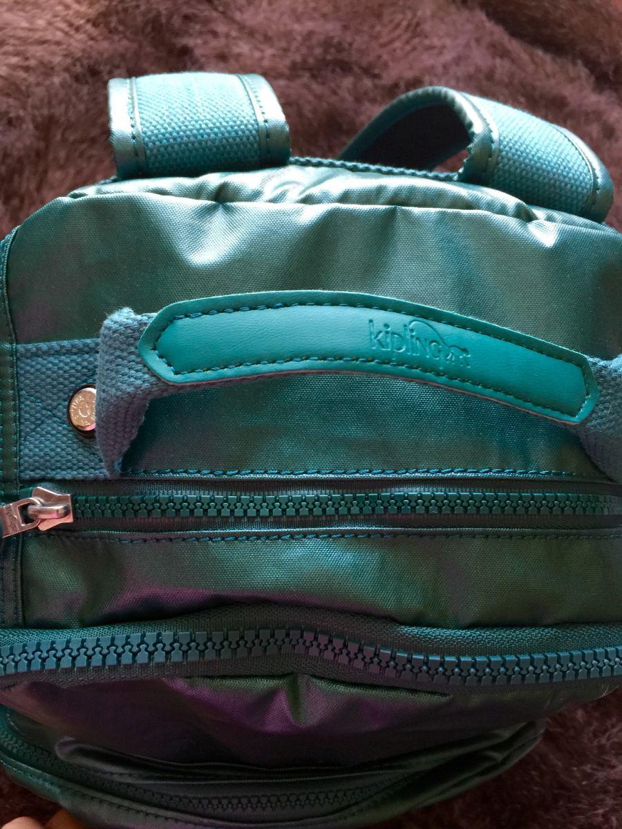 5ad15099b Mochila Grande 100 % Kipling Seoul Verde Metálica - $ 75.000 en ...
