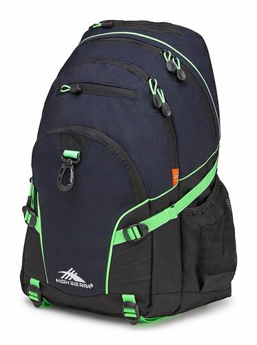 mochila grande azul marino *envio gratis