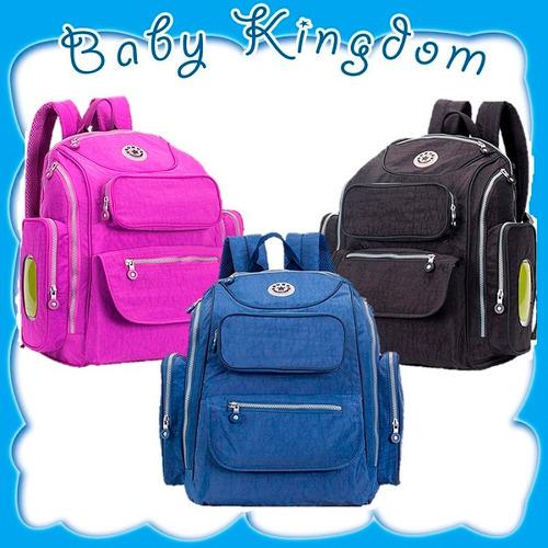 mochila grande bolso moderno maternal pañalero con cambiador