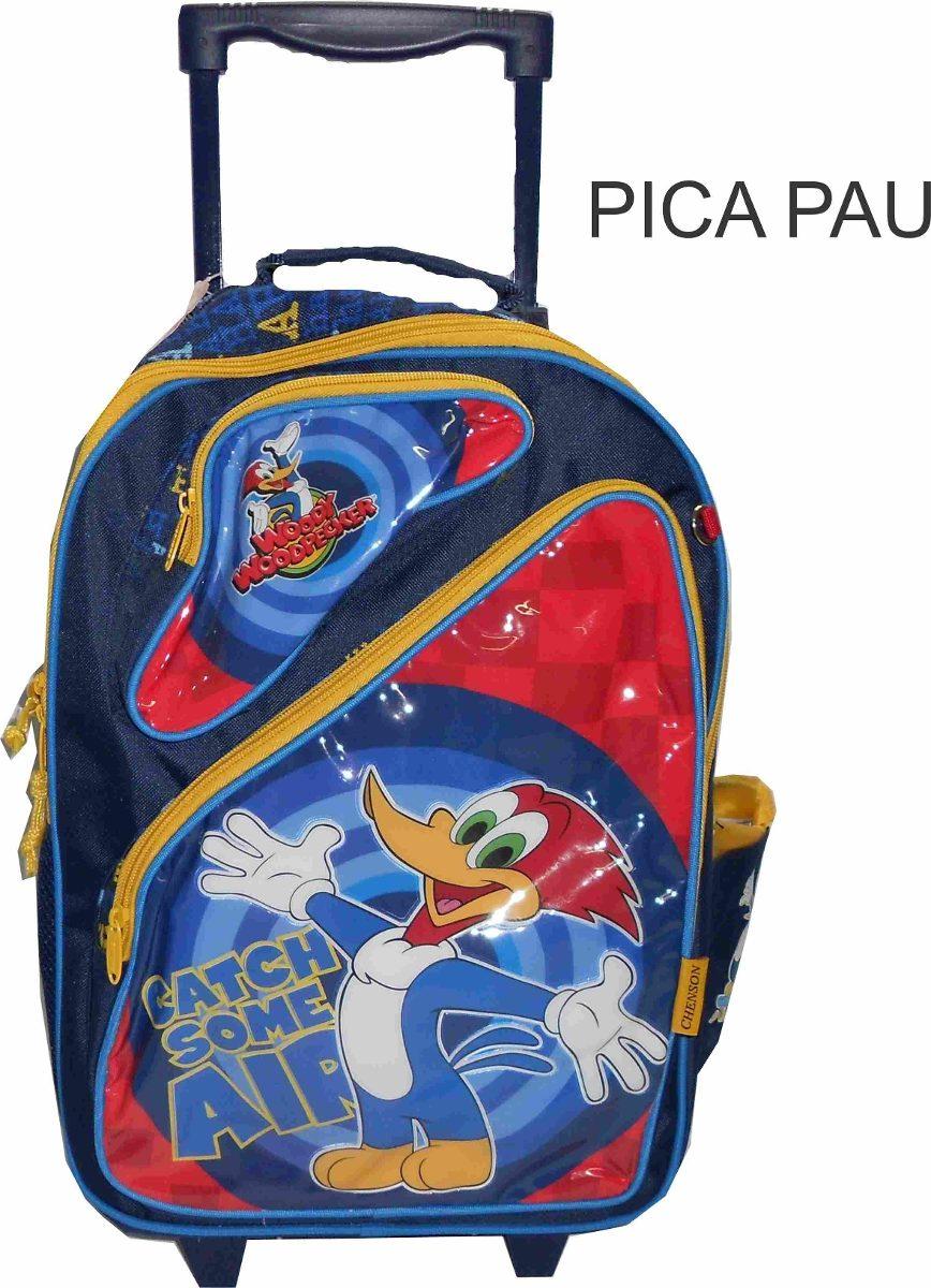 mochila grande com rodinha pica pau   r 84 90 em mercado