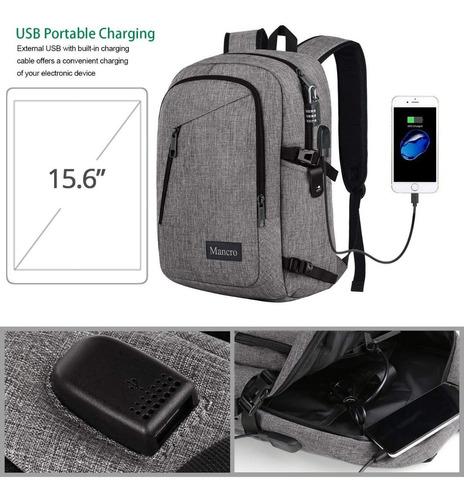 mochila grande  con carga usb para celular/ notebook