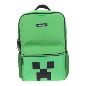 Mochila Grande Escolar Creeper Minecraft Oficial Chenson