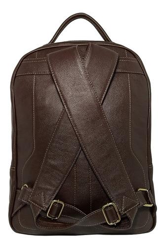 mochila grande masculina de couro legítimo para notebook