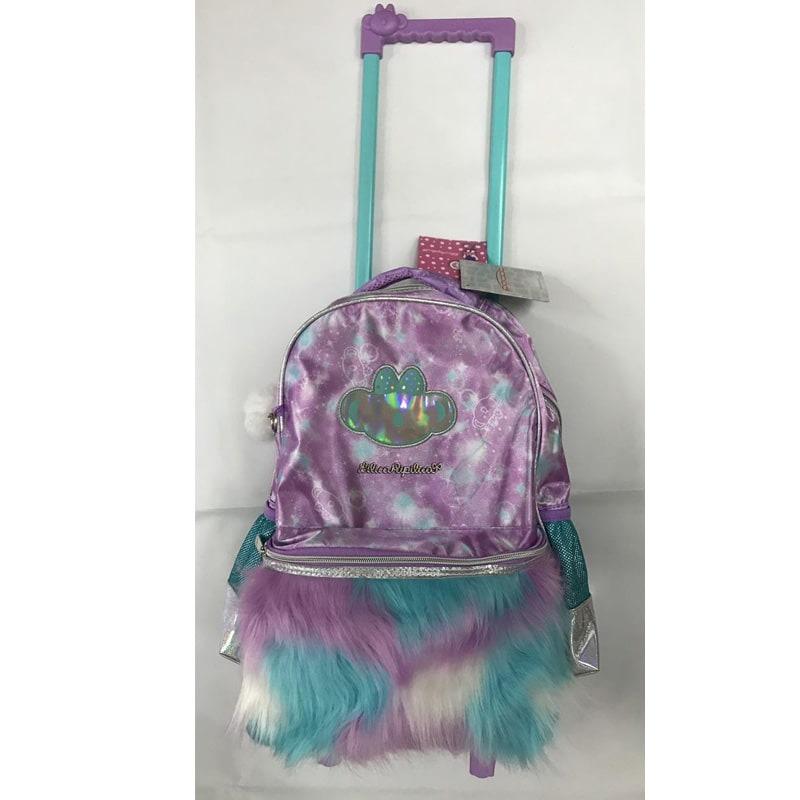 291503d13c mochila grande mundo mágico com rodinhas - lilás - ref. 971e. Carregando  zoom.