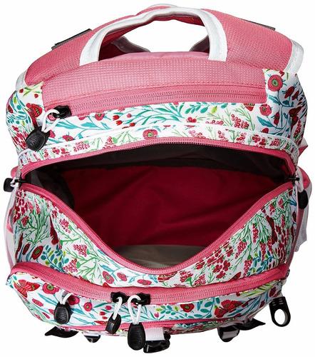 mochila grande rosa flores *envio gratis