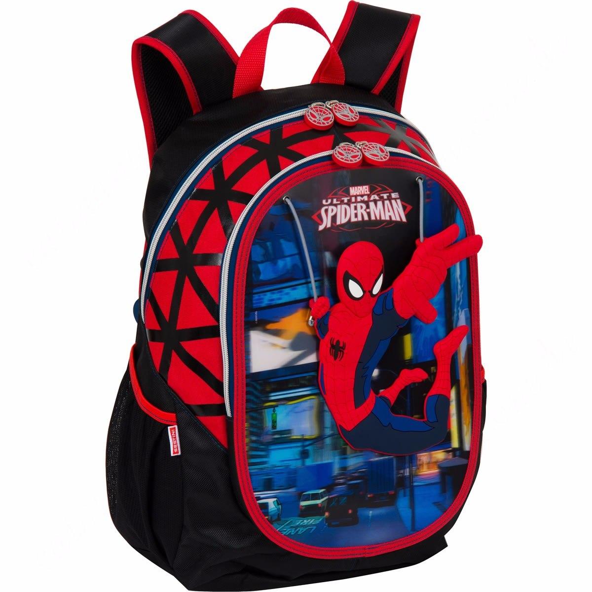 59e924197 Mochila Grande Spider Man- Marvel Sestini - R$ 120,90 em Mercado Livre