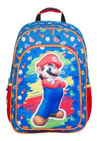 diseño innovador 62efc 02f59 Mochila Grande Super Mario Bros 3d Chenson Original 63489-9