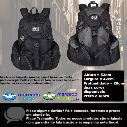 e973d04e1 Mochila Grande Traxart Shock Preta Para Patins Original - R$ 229,00 ...