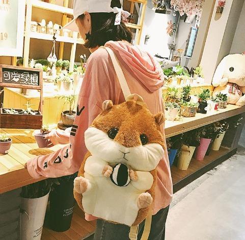 mochila hamster bolsa cute kawaii mujeres unisex linda bag