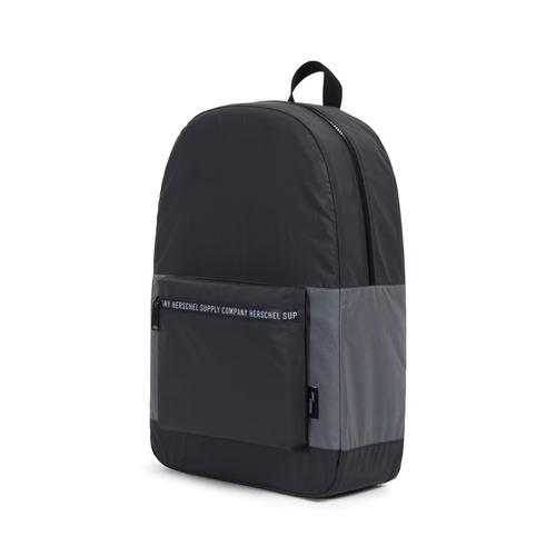 mochila herschel supply plegable daypack black reflective/si