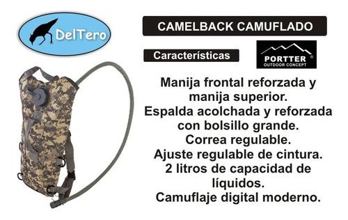 mochila hidratación - camelback 2 litros camuflaje digital