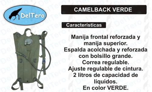 mochila hidratación - camelback 2 litros - color verde