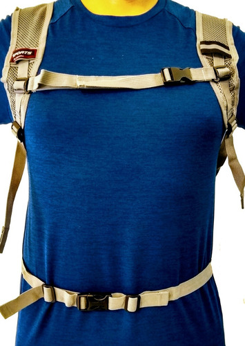 mochila hidratante tipo camelback + bolsa de agua de 2lts hidratacion ciclismo mtb running travesia