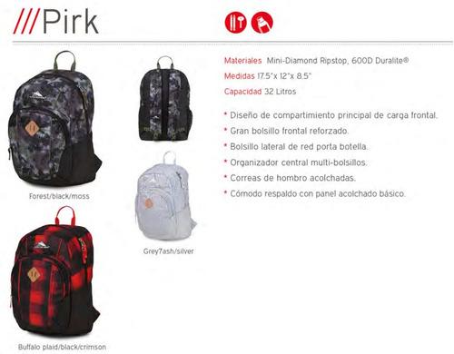 mochila high sierra daypacks modelo pirk