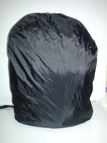mochila honda preta capa para chuva e espaço para notebook
