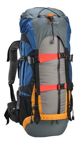 mochila impermeável nautika gyzmo 60 litros gt cinza e azul