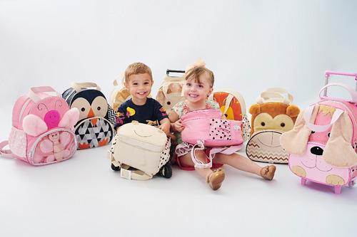 mochila infantil cachorro com naninha