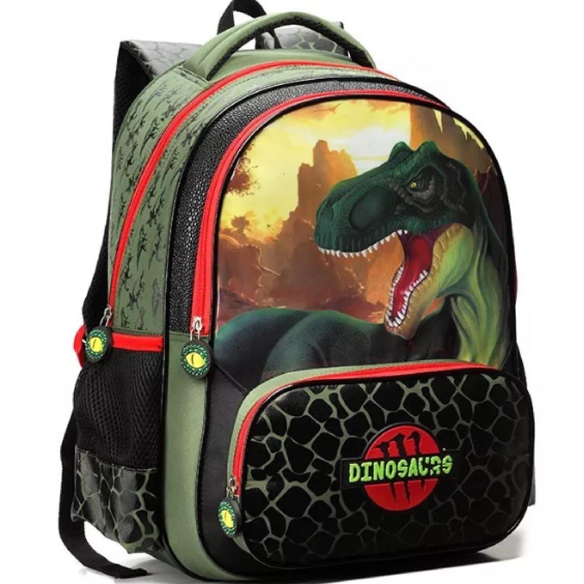 1b5e1cf32 mochila infantil dinossauro seanite de costas tam g promoção. Carregando  zoom.