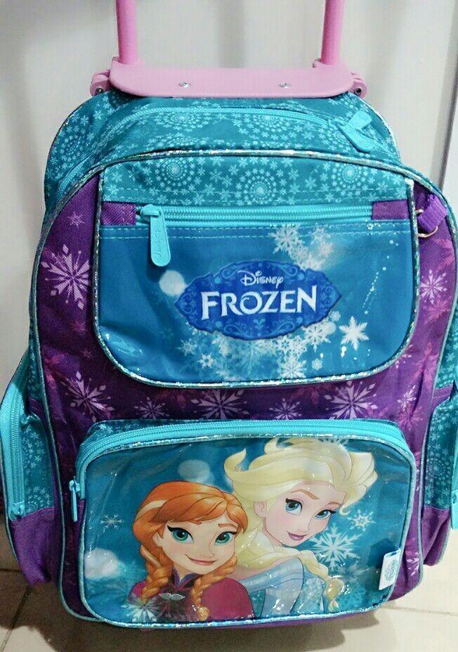 Bolsa Escolar Feminina Da Frozen : Mochila infantil escolar grande com rodinhas da frozen r