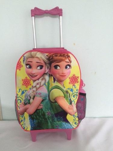 mochila infantil escolar rodinha frozen linda barata
