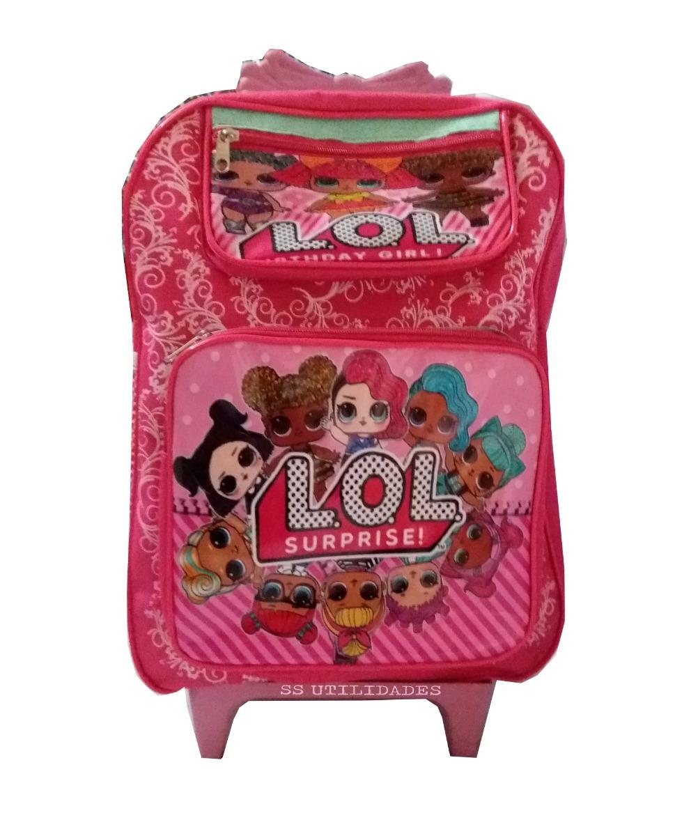 e1c784e4d Mochila Infantil Feminina Com Rodinhas Lol - R$ 59,00 em Mercado Livre