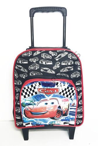 mochila infantil filme carros com rodinhas pequena mcqueen