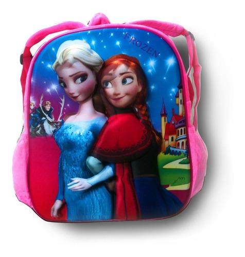 mochila infantil frozen 3d pelúcia
