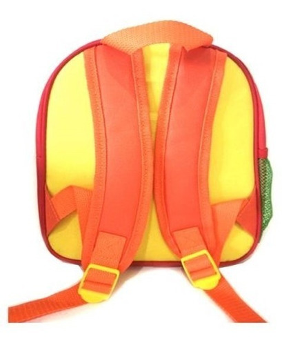 mochila infantil granja de zenon cierre frontal bolsillo red