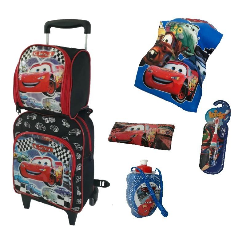 3d3d4636ce mochila infantil kit combo rodinhas escolar carros meninos. Carregando zoom.