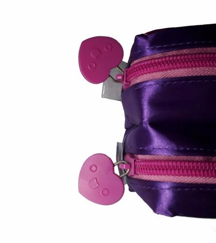 mochila infantil lancheira térmica estojo chiquititas rosa