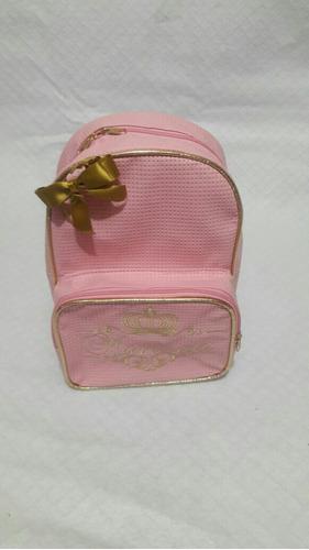 mochila infantil personalizada bordada com lacinho