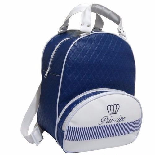 mochila infantil príncipe - menino - azul marinho - g