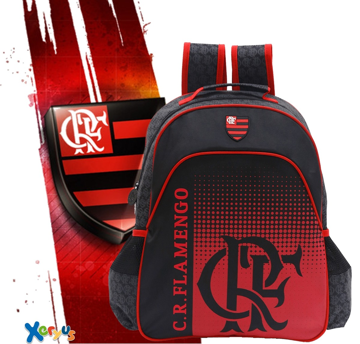 401085902 Mochila Infantil Xeryus Flamengo Mengao 8052 Sem Juros - R$ 124,99 ...