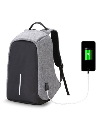 mochila inteligente antirrobo porta notebook impermeable usb