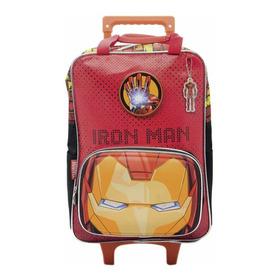 Mochila Iron Man Avengers Marvel Ojos Con Carro