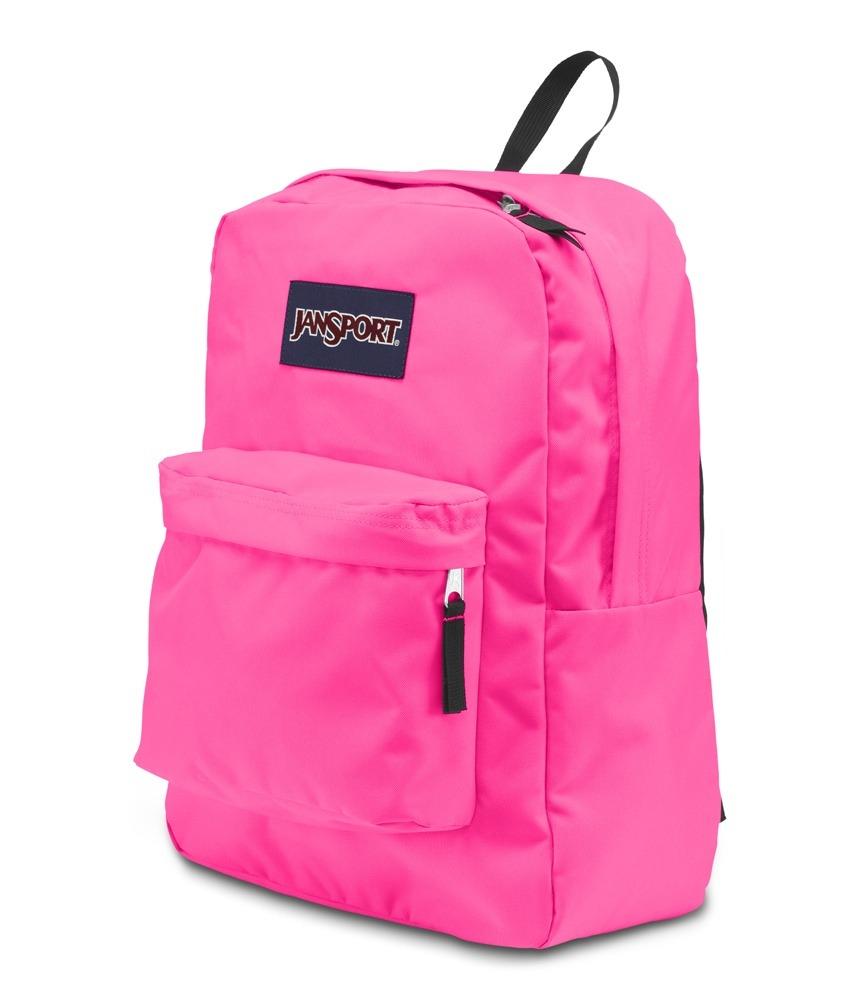 a7a11cdde Mochila Jansport Superbreak Rosa Fluorescente - R$ 99,90 em Mercado ...