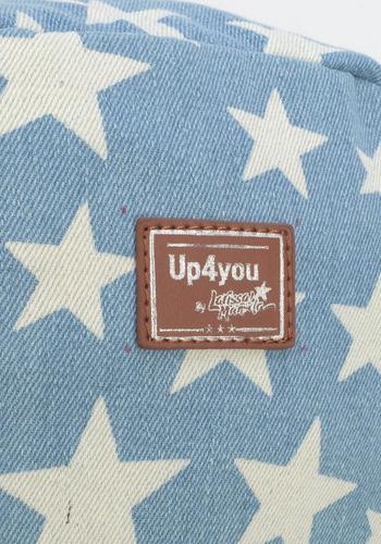 mochila jeans claro estrelas  larissa manoela up4you- 48489