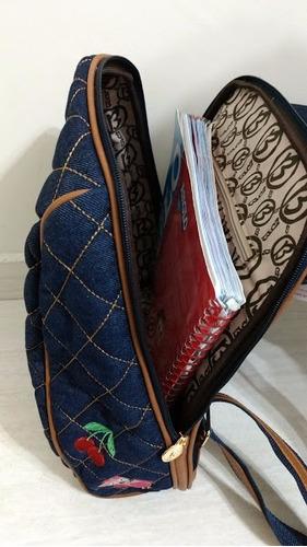 mochila jeans larissa manoela produto oficial - oferta hoje!