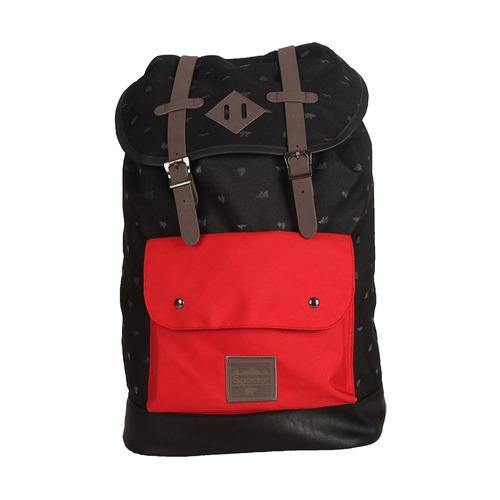 mochila jovem spector preta/vermelha grande spa5204