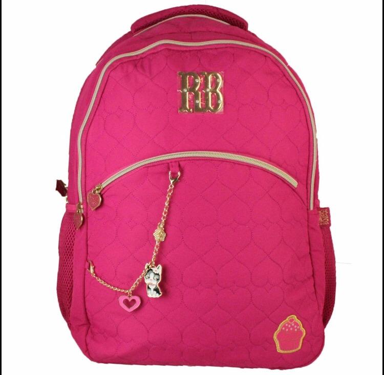 f8edda490 Mochila Juvenil Rebecca Bonbon Escolar P/laptop Rosa - R$ 169,90 em Mercado  Livre