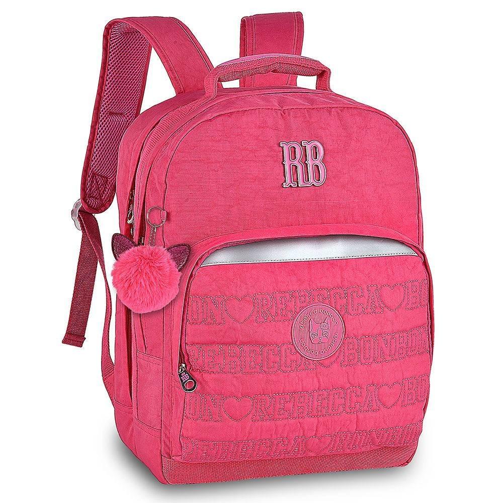 0e5c9e374 Mochila Juvenil Rosa Com Pompom Rb9129 Rebecca Bonbon - R$ 159,99 em ...