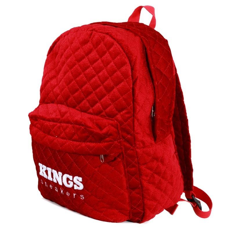 5fd2282e8273ea Mochila Kings Matelassê Vermelha