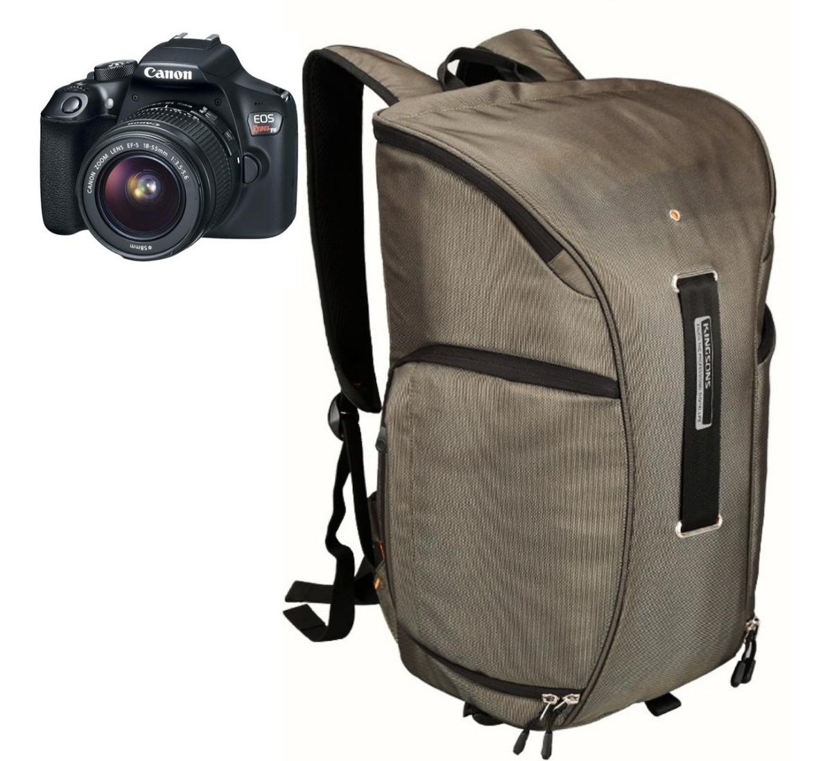 Camara Dslr Backpack Reflex Laptop Mochila Kingsons OTPlZiwkXu