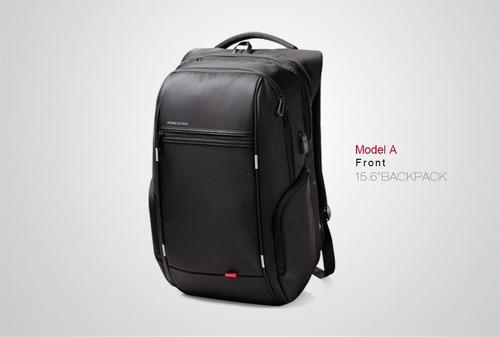 mochila kingsons portalaptop 13-15-17 usb carga impermeable