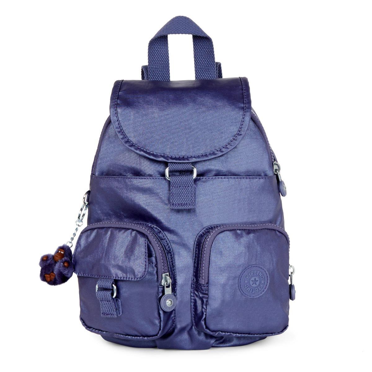 c74a4c952 Mochila Kipling Azul Metalica Original - R$ 350,00 em Mercado Livre