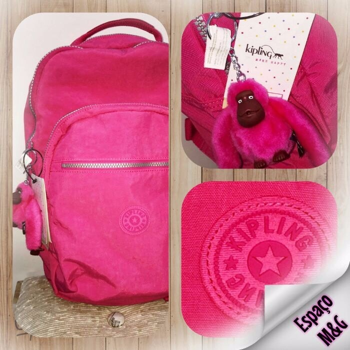 41cfb9970 Mochila Kipling Clas Seoul Rosa Pink - Mod Bp3020 S/juros Rj - R ...
