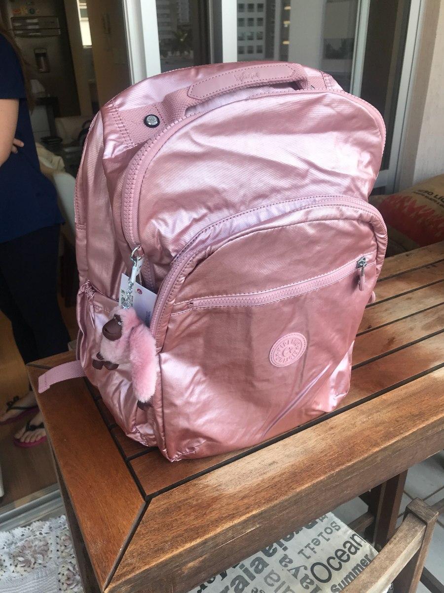 precio oficial brillo encantador venta outlet Mochila Kipling Extra Large Laptop Rosa Metálic Original