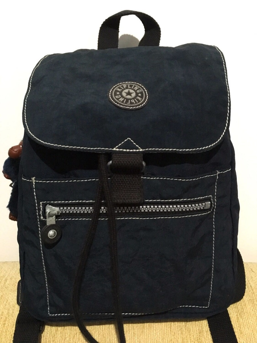 103fd1d59 mochila kipling original azul marinho costas oferta promoção. Carregando  zoom.