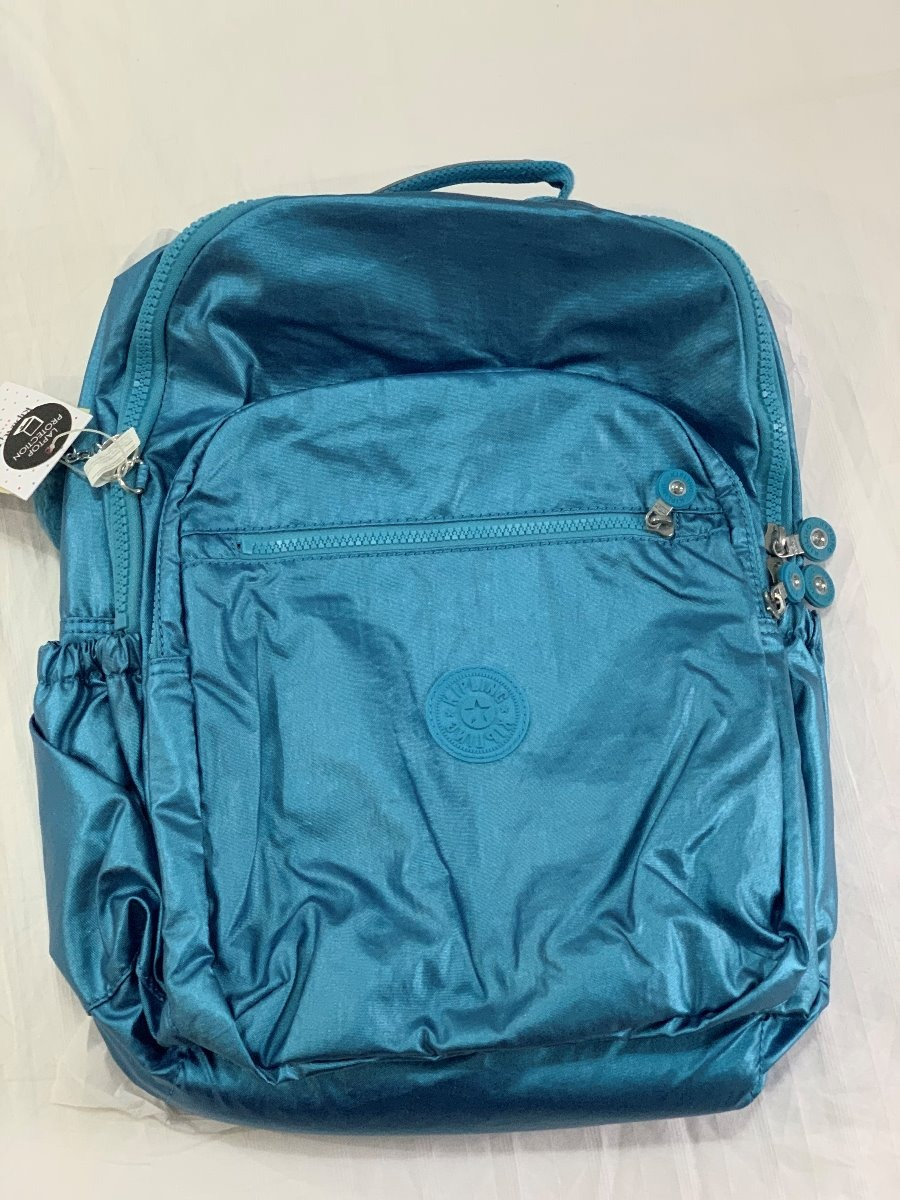 a75b4aaa1 Mochila Kipling Seoul Azul Metalico - R$ 699,00 em Mercado Livre